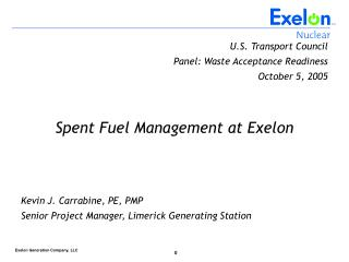 U.S. Transport Council Panel: Waste Acceptance Readiness October 5, 2005