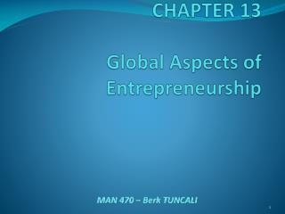 CHAPTER  13 Global Aspects of Entrepreneurship