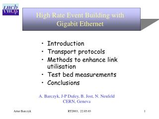 High Rate Event Building with  Gigabit Ethernet