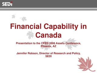 Financial Capability in Canada