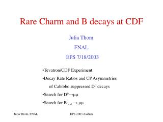 Rare Charm and B decays at CDF