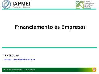 Financiamento às Empresas