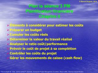 Plan la séance 3 PM Planification financière Chapitre 9