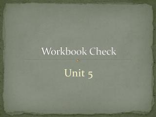 Workbook Check