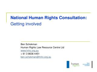 National Human Rights Consultation: Getting involved