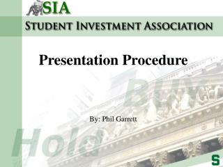 Presentation Procedure