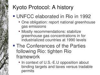 Kyoto Protocol: A history