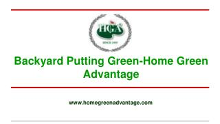 Backyard Putting Green-Home Green Advantage