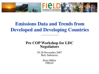 Emissions Data and Trends from Developed and Developing Countries  ______________