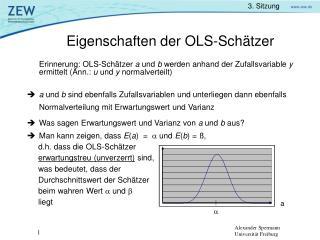 Eigenschaften der OLS-Sch tzer
