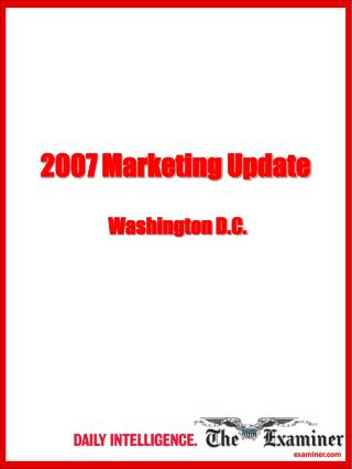 2007 Marketing Update