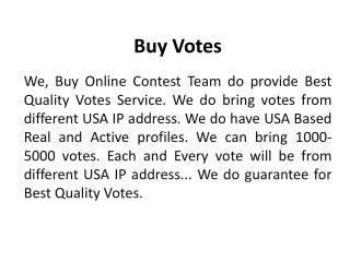 Buy Votes