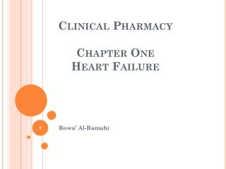 Clinical Pharmacy Chapter One Heart Failure