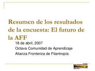 Resumen de los resultados de la encuesta: El futuro de la AFF