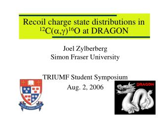 Recoil charge state distributions in  12 C( a,g ) 16 O at DRAGON