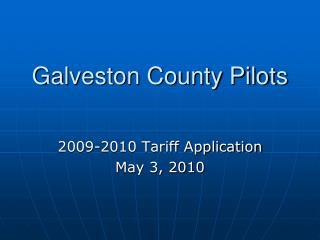 Galveston County Pilots