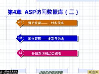 第 4 章   ASP 访问数据库(二)