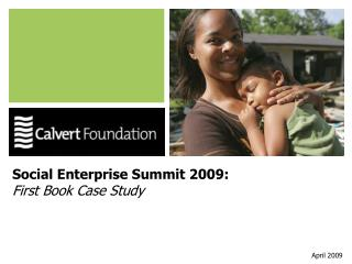 Social Enterprise Summit 2009: First Book Case Study