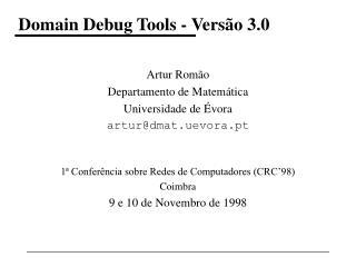 Domain Debug Tools - Versão 3.0