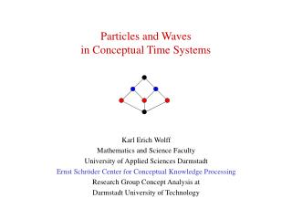 Particles and Waves in Conceptual Time Systems