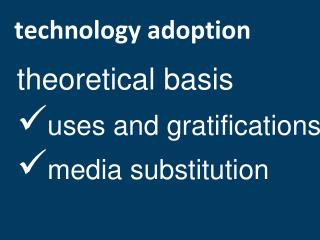 technology adoption