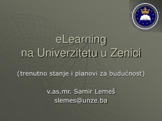 eLearning  na Univerzitetu  u Zenici