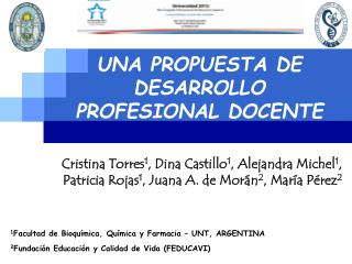 UNA PROPUESTA DE DESARROLLO PROFESIONAL DOCENTE