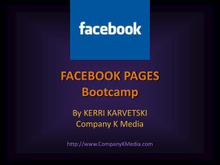 FACEBOOK PAGES Bootcamp