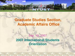 Graduate Studies Section