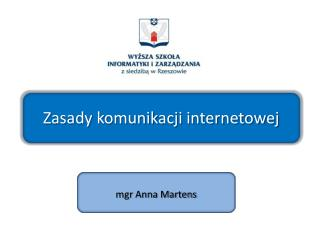 Zasady komunikacji internetowej