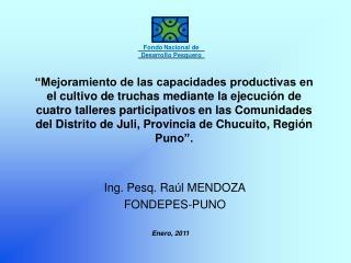 Ing. Pesq. Raúl MENDOZA FONDEPES-PUNO