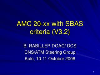 AMC 20-xx with SBAS criteria (V3.2)