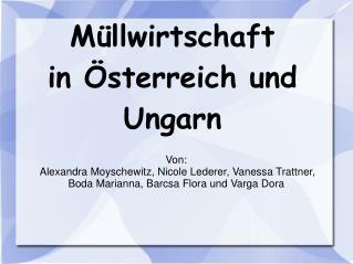 Müllwirtschaft in Österreich und Ungarn
