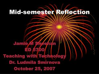 Mid-semester Reflection