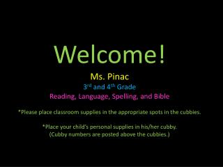 Mrs. Pinac�s Childhood