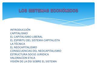 LOS SISTEMAS ECON�MICOS
