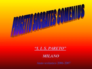 PROGETTO SOCRATES COMENIUS