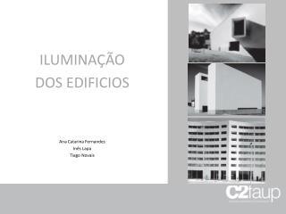 ILUMINAÇÃO  DOS EDIFICIOS Ana Catarina Fernandes Inês Lapa Tiago Novais