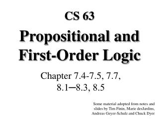 Propositional and First-Order Logic