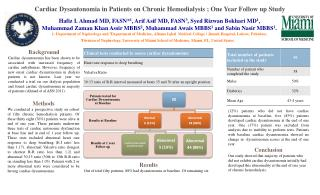 Cardiac  Dysautonomia  in Patients on Chronic  Hemodialysis  ; One Year Follow up Study