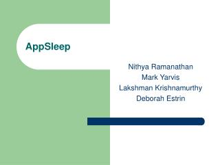 AppSleep