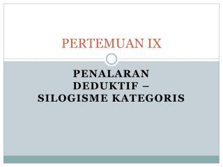 PERTEMUAN IX