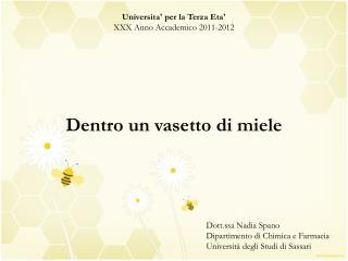 Universita'  per la Terza  Eta' XXX Anno Accademico 2011-2012