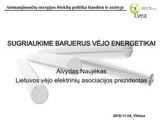 SUGRIAUKIME BARJERUS V Ė JO ENERGETIKAI