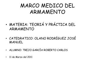 MARCO MEDICO DEL ARMAMENTO