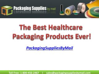 The best Healthcare Packaging Products Ever