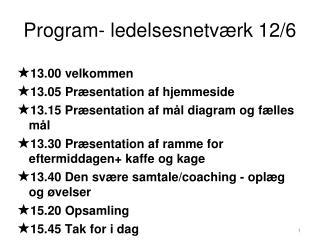 Program- ledelsesnetværk 12/6