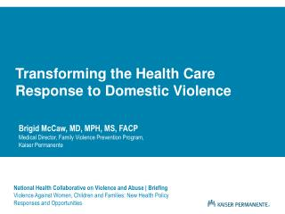 National Health Collaborative on Violence and Abuse | Briefing