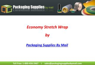 Economy Stretch Wrap by Packaging Supplies By Mail