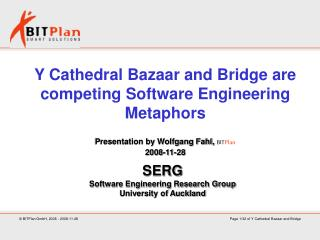 Y Cathedral Bazaar and Bridge are competing Software Engineering Metaphors